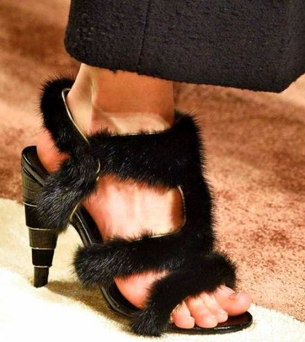 fuxe fur heels Would You Try This Fall 2016