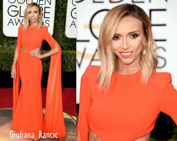 Giuliana Rancic in in Alex Perry 73rd+Annual+Golden+Globe+Awards
