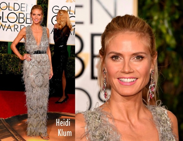 Heidi Klum in Marchesa dress 73rd+Annual+Golden+Globe+Awards