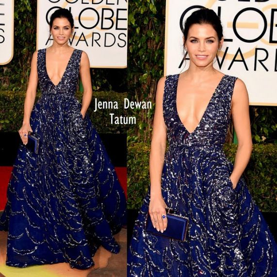 Jenna Dewan-Tatum in Zuhair Murad 73rd+Annual+Golden+Globe