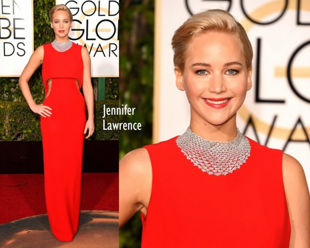 Jennifer Lawrence Dior Couture 73rd+Annual+Golden+Globe+Awards