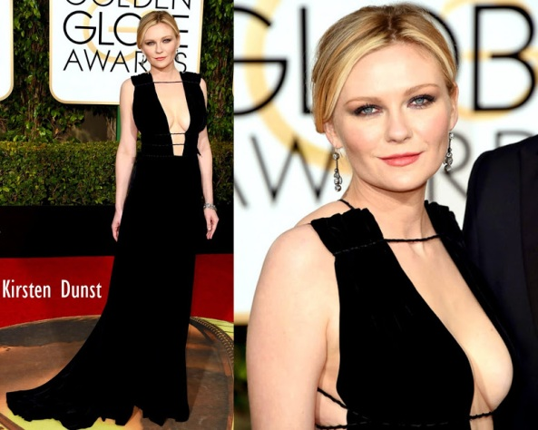 Kirsten Dunst in Valentino Haute Couture 73rd+Annual+Golden+Globe+Awards+