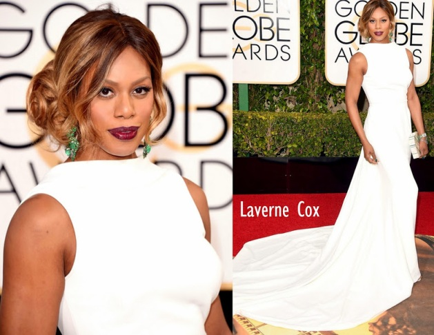 Laverne Cox in Elizabeth Kennedy 73rd+Annual+Golden+Globe+Award
