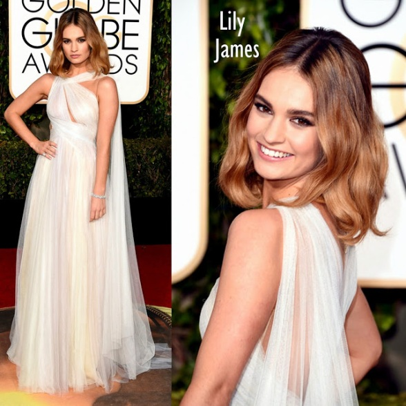 Lilly James Marchesa. 73rd+Annual+Golden+Globe+Awards