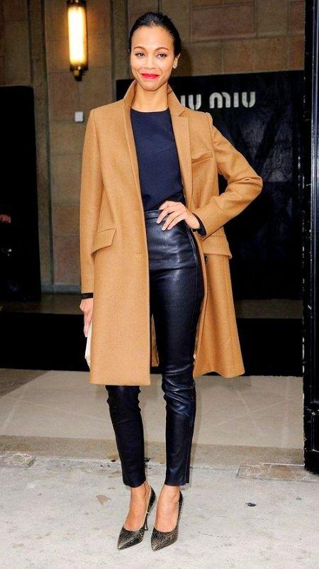 Minimal + Chic camel coat