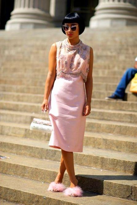 pink furry heels
