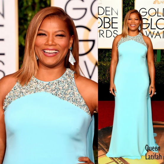 Queen Latifah in Badgley Mischka. 73rd+Annual+Golden+Globe+Awards