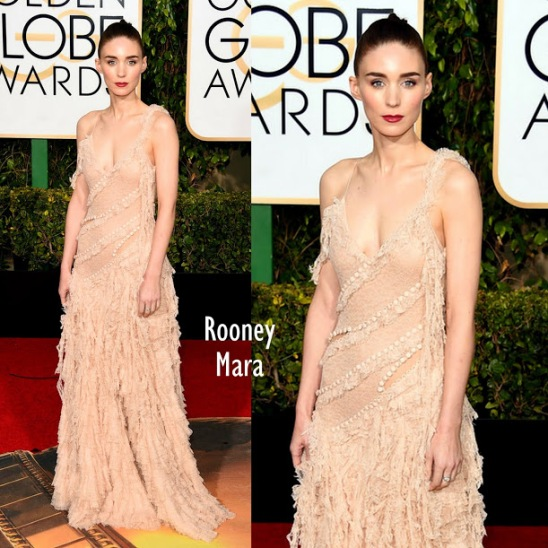 Rooney Mara in McQueen 73rd+Annual+Golden+Globe+Awards+