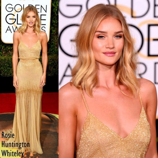 Rosie Huntington-Whiteley in Atelier Versace. 73rd+Annual+Golden+Globe+Awards