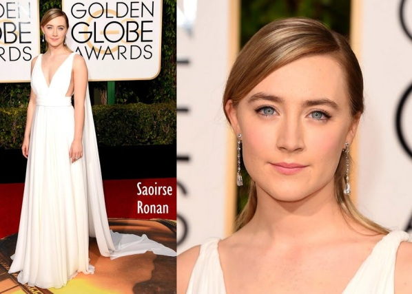 Saoirse Ronan Yves Saint Laurent Couture 73rd+Annual+Golden+Globe+Awards