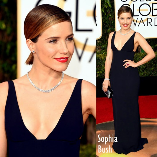 Sophia Bush in Narciso Rodriguez 73rd+Annual+Golden+Globe