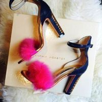 FAB #TREND #TUESDAY! #Try On These Fuzzy Pom Pom #Heels!