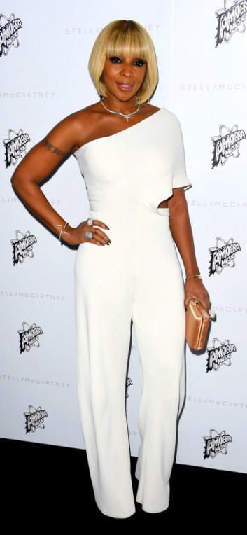 Stella-McCartney-Autumn-2016-Presentation-mary-j-blige-648x1000 Mary J. Blige was white hot in a one-shoulder jumpsuit Stella McCartney fall 2016 presentation in Hollywood