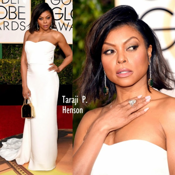 Taraji P. Henson in Stella McCartney dress 73rd+Annual+Golden+Globe+