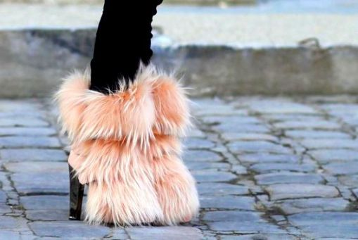 upgrade to fuzzy heels instead of fuzzy slippers