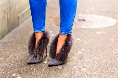 upgrade to fuzzy heels