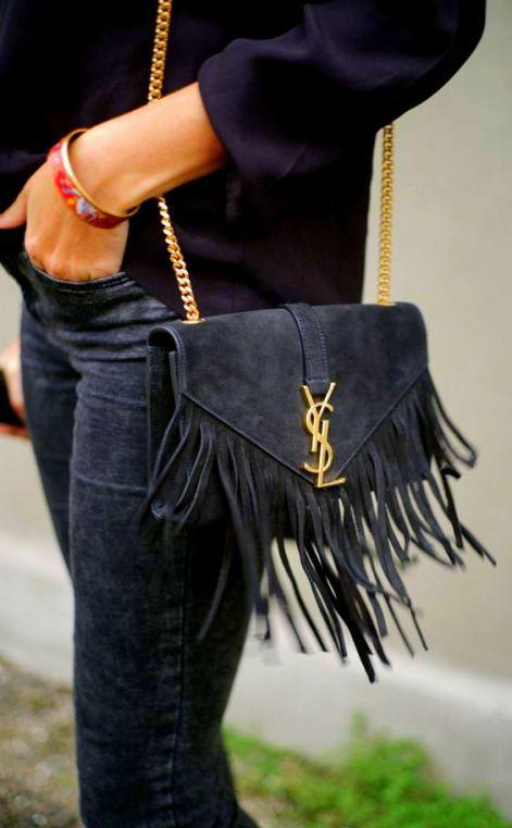 YSLFringe Handbags luxury lifestyle brand