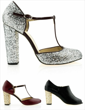 CUSTOM & CHIC GLITTER PUMPS