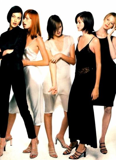 90S FASHION Steven Meisel for American Vogue, January 1995