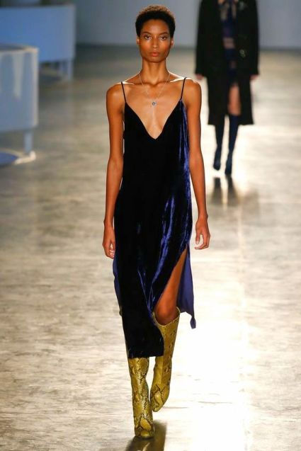 Animale São Paulo Fall 2016 Fashion Show slip dress velvet