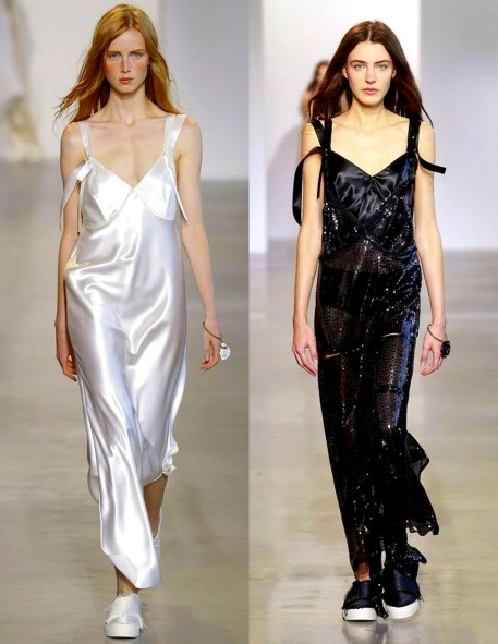 Calvin Klein Newest Slip Dresses 2015