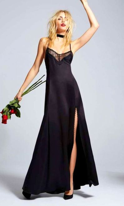 Love, Courtney by Nasty Gal Once and Destroy Satin Maxi Slip Shop Product at Nasty Gal