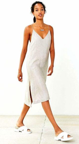 Martel Metallic Strappy Slip Dress - Urban Outfitters
