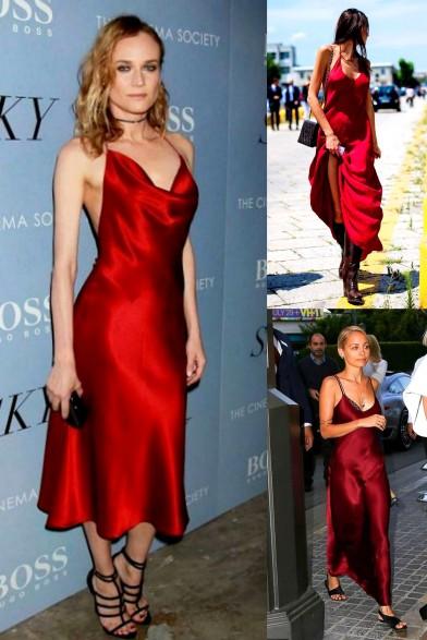 Red Slip Dresses Diane & Nicole Richie Wine color dresses