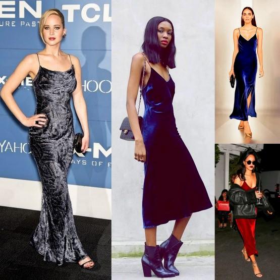 Velvet Slip Dresses blogger Riri & Jennifer Law & Style