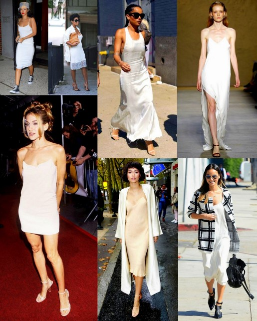 White Slip Dresses From 1990 to 2016