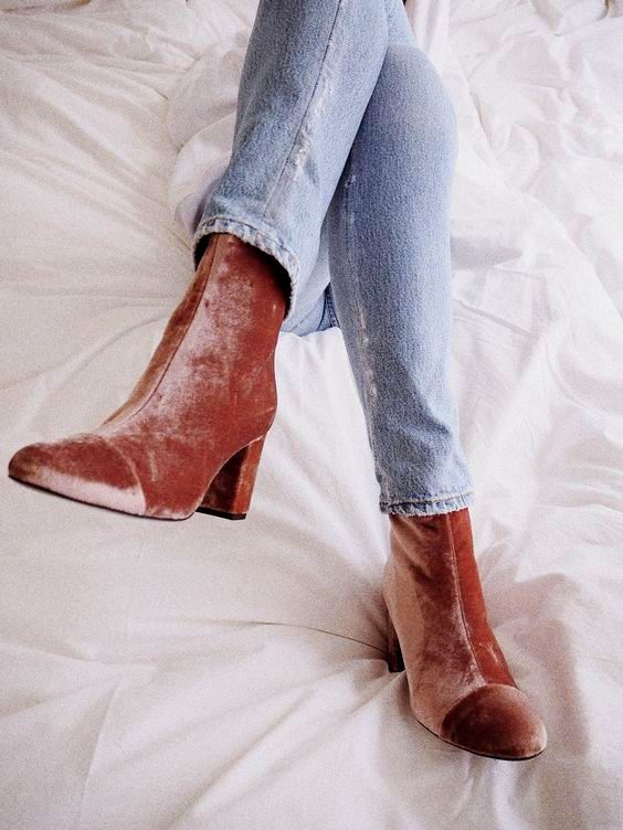 cool-chic-velvet-pink-ankle-boots