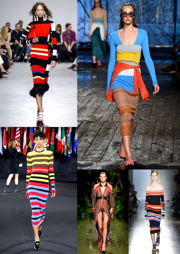 Bright Stripes Spring Summer 2017 Fashion Week trend ready to wear