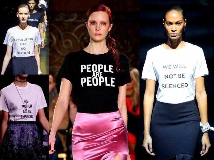 Speak Up & Voice Statement Shirts trend Spring Summer 2017 ready to wear