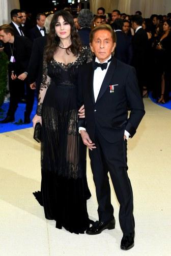 Monica Bellucci and Valentino Garavani