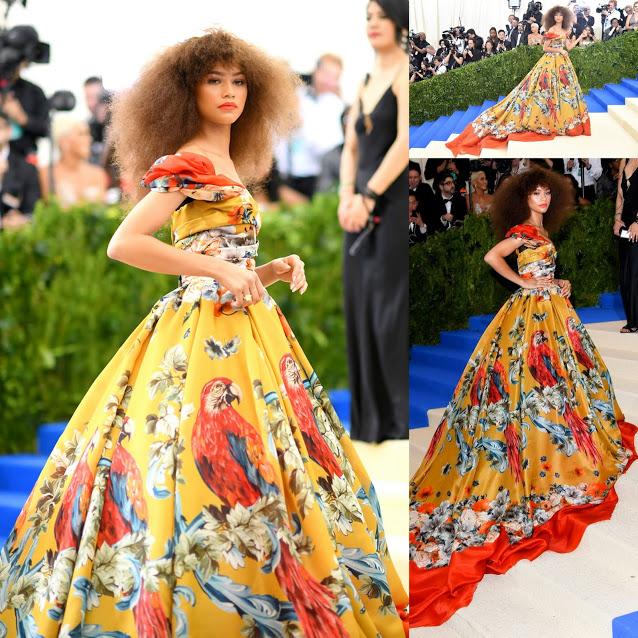 Zendaya in Dolce & Gabbana Alta Moda Met Gala 2017