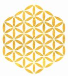 Flower of life gold symbol