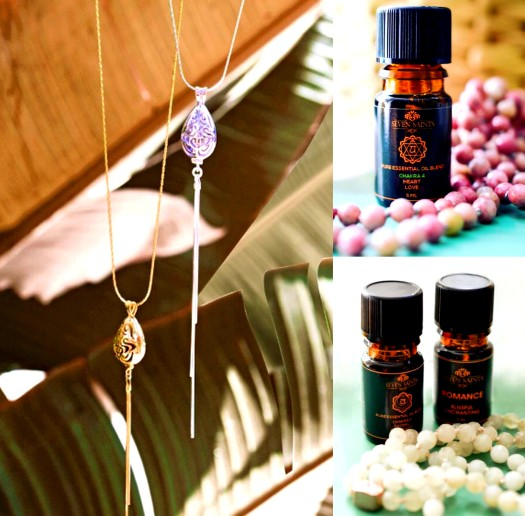 Seven saints jewelry aromatherapy scents necklace